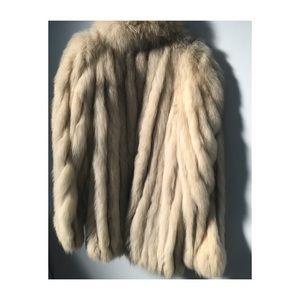 Vintage Silver Fox Coat